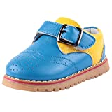 Doink Kids Boys My First Blue Leather Shoes 22 EU (Toddler)