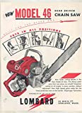 1957 Lombard Model 46 Chainsaw Brochure