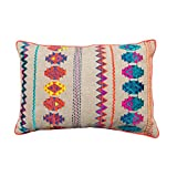 Colorful Bohemian Style Linen Pillow Cover Embroidered Moroccan Pillow Case Tribal Indian Craft Cushion Cover... - B00WK7VKX2
