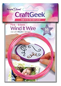 Purple Cows 7101 Craftgeek Wind It Wire Refills, 3-Feet Length, Pink