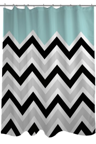 Top Rated Black and White Chevron Shower Curtain - Fabric, Plastic & Mildew Free Shower Curtains - cover