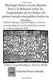 img - for Mitologia Taina o Eyeri. Ramon Pane y la Relacion sobre las: Ramon Pane Relacion (Spanish Edition) book / textbook / text book