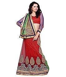 Manvaa Women Net Lehenga Choli(Red_ASTT101_Free Size)