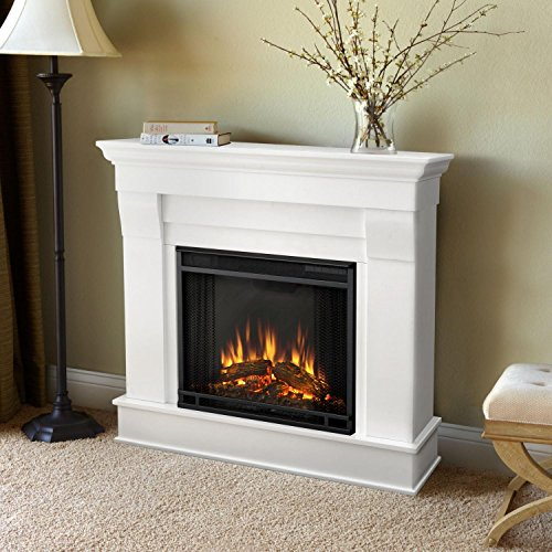 Chateau Electric Fireplace Finish: White