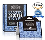 Dr. Killigan's Non-Toxic Pantry Moth Traps Pro Pack (6, Blue Traps)