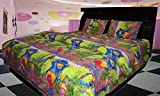 Riyasat- 5D Kids Printed Single Bed Sheet Set (230x2180 cm) Glace Cotton Fabric