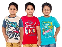 Menthol Boys Round Neck Tshirt (Pack of 3) (7-8 Years)