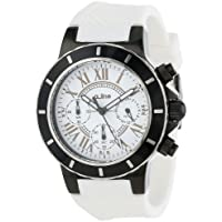 A_line Women's 20104DV Marina Chronograph White Silicone Watch