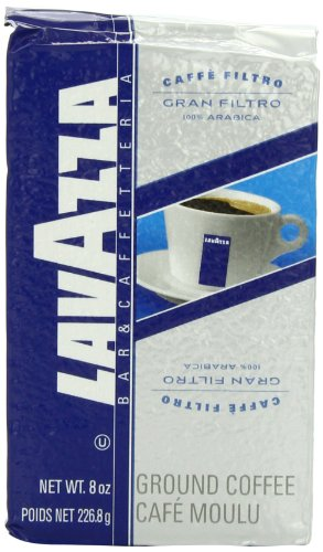 Lavazza Gran Filtro Ground Coffee, 8-Ounce (Pack of 5)