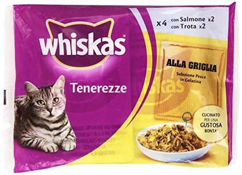 Whiskas – Tenerezze, Alla Gtiglia Selezione Pesce in Gelatina, 4 porzioni – 340 g