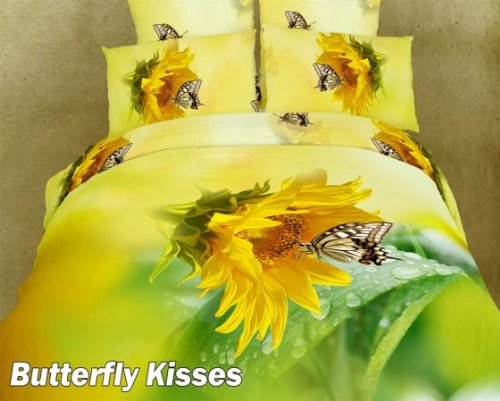 Butterfly Kisses, Twin Duvet Cover, Chic Girl Dorm by Lincoln