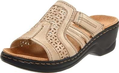Clarks Women's Lexi Bark Slide Sandal,Sand Leather,9 M US