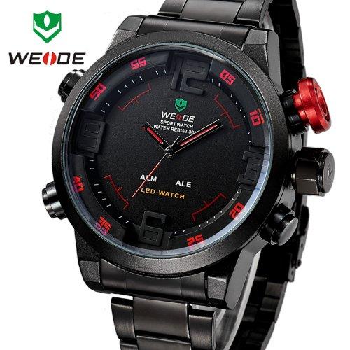 Hot Sale! WEIDE Military Watches Men Luxury Brand Full steel Watch Sports Diver Quartz Wristwatch Multi-function...