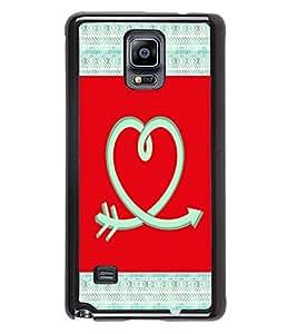 PrintVisa Metal Printed Love Logo Designer Back Case Cover for Samsung Galaxy Note 4 N910G -D4977