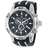 Reloj Joshua & Sons Men's S50SSB Swiss Chronograph negro con pulsera de silicona
