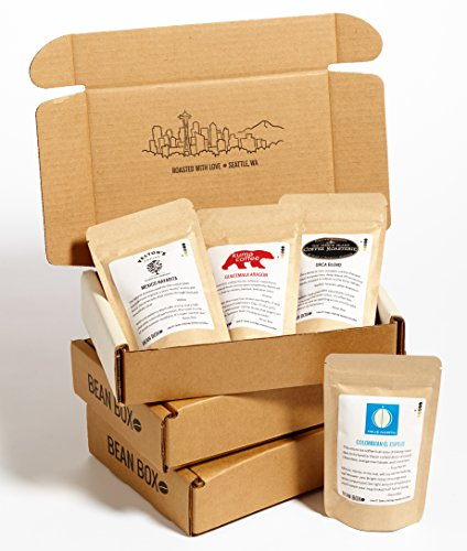 Bean Box Medium Roast Gourmet Coffee Sampler - 3-Month Gift Subscription