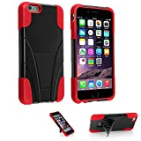 5s Case, iPhone 5&5s Case, VAKOO iPhone 5 5S Case Dual Layer Defender Shockproof Drop proof Shield Series with Kickstand High Impact Hybrid Armor Silicone Rugged Case for Apple iPhone 5 5S (Red/Black)