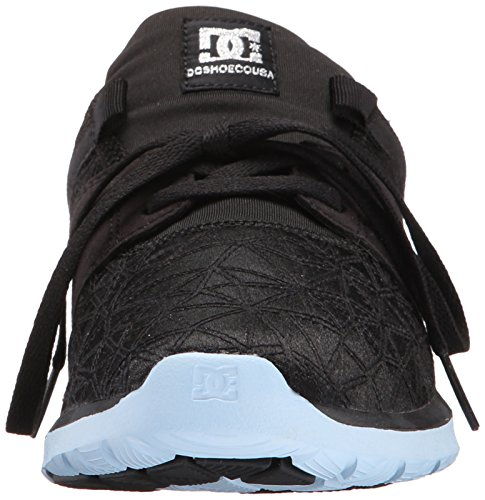 DC Women's Heathrow X TR Skate Shoe, Black Print, 6 M US