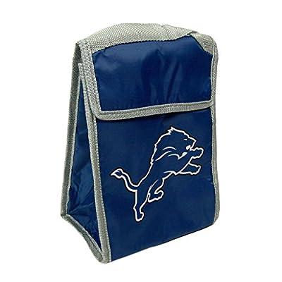NFL Detroit Lions Big Logo Velcro Lunch Bag, Blue