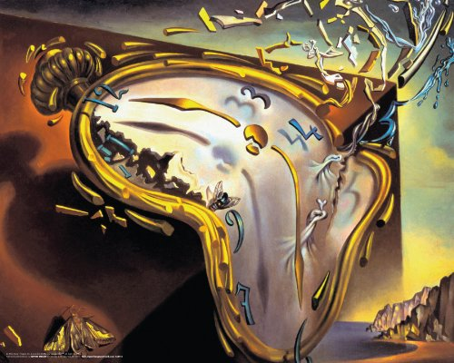 Salvador Dali Montre Molles (Soft Watch Explosion) Surrealist Art Poster Print 16x20 (Salvador Dali Pictures compare prices)