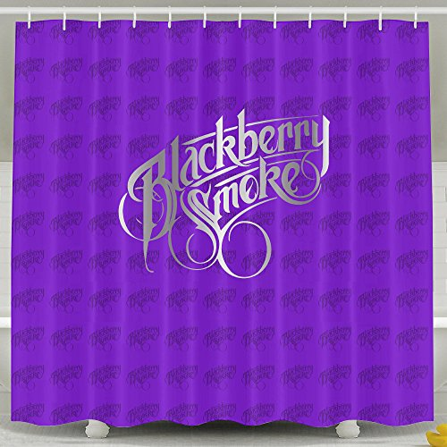ASJDO Shower Curtains Blackberry Smoke Band Platinum Logo (Kiss Double Platinum Japan compare prices)