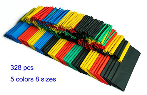 Best Prices! SummitLink 328 Pcs Assorted Heat Shrink Tube 5 Colors 8 Sizes Tubing Wrap Sleeve Set Co...