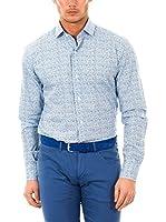 McGregor Camisa Hombre Top Bruce 4 Tf Ls (Azul / Blanco)