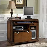 Home Styles 5527-19 Homestead Compact Office Cabinet, Distressed Warm Oak Finish