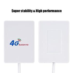 Bewinner 4G 3G LTE Antena de Alta Ganancia,Enrutador M/óvil 4G 3G con Cable de 2.9m para Mejore la Cobertura de Red de Banda Ancha M/óvil y Las Capacidades de Recepci/ón WiFi TS-9 CRC9接口 CRC9 SMA