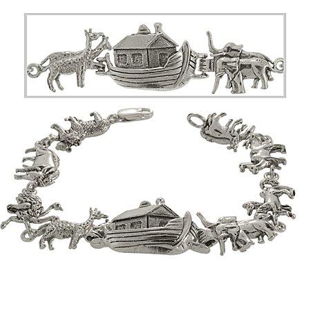 Noahs Ark Bracelet in Sterling Silver - Christian Story