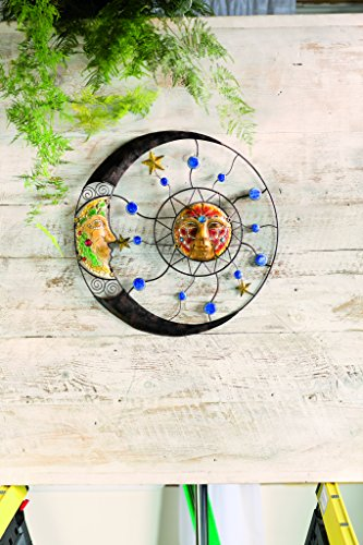 Wind & Weather Mosaic Sun And Moon Wall Sculpture