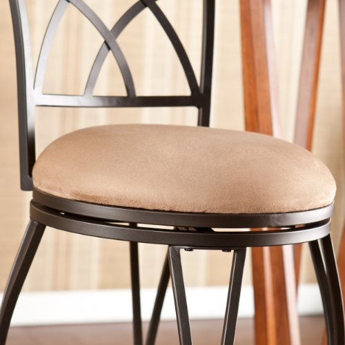 SEI Belton Swivel Bar Stool, Brown
