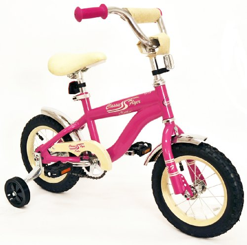 Classic Flyer by Kettler Kid's Retro Bike, 12-Inch, Pink