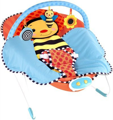 Sassy Cuddle Bug Bouncer, Whimsical Bumble Bee front-960413