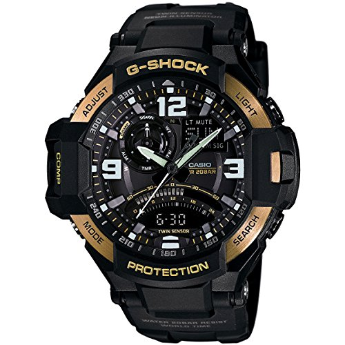 Casio Men's GA1000-9G G-Shock Gravitymaster Black/Gold