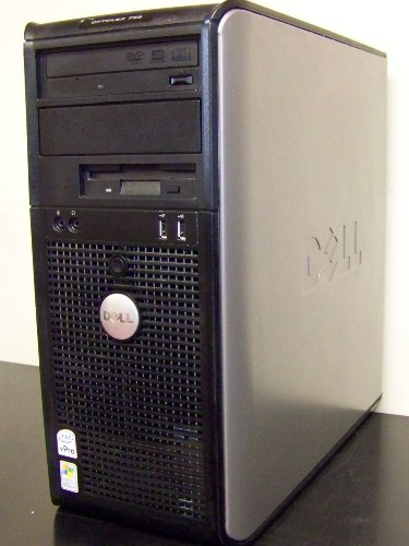 Dell Optiplex 755 Tower, Windows 7 Professional 64 Bit, Fast and Powerful 2.4GHz Dual Core Processor, 4GB DDR2 High Performance Memory, Large 750GB SATA Hard Drive, DVDRW/CDRW