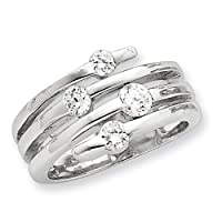 Sterling Silver Cz Right Hand Ring by Shop4Silver