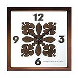 時計 掛け時計 おしゃれ デザイン   人気のハワイアンキルト柄を文字盤にあしらった掛け時計 HawaiianQuilt Clock sd4534131