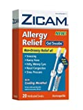 51n6ys29V2L. SL160  Zicam Allergy Relief Gel Swabs,  20 Count Box