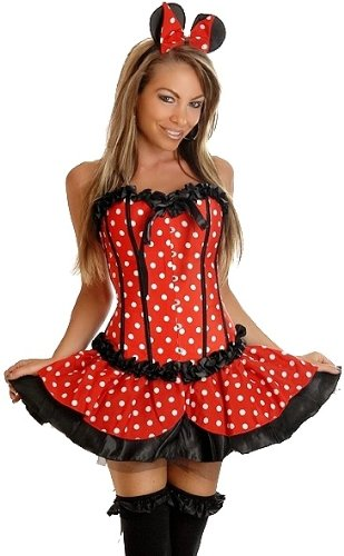 Daisy Corsets 3 PC Sexy Miss Mouse Corset Costume