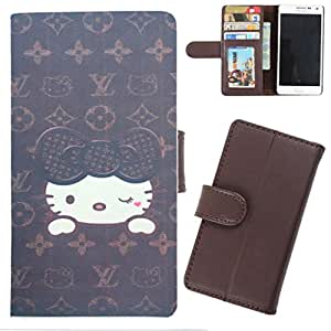 DooDa - For Nokia Lumia N925 PU Leather Designer Fashionable Fancy Wallet Flip Case Cover Pouch With Card, ID & Cash Slots And Smooth Inner Velvet With Strong Magnetic Lock