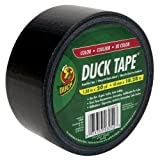 Duck Brand 392875 Colored Duct Tape, Black, 1.88-Inch by 20 Yards, Case of 6 Rolls