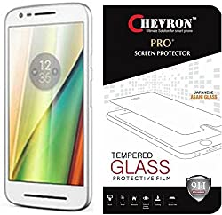 Chevron Motorola Moto E3 Power, Motorola Moto E (3rd Generation) Screen Protector, Premium Oil Resistant Coated Tempered Glass Screen Protector Film Guard for Motorola Moto E3 Power, Motorola Moto E (3rd Generation), Anti-explosion