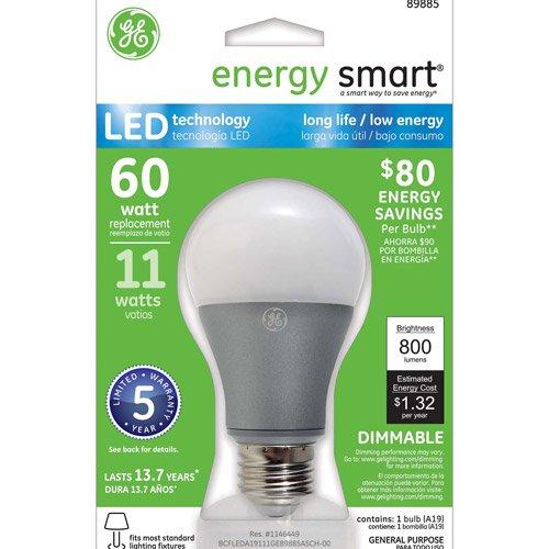 GE Energy-Smart LED 11W A19 Light Bulb 1-pack