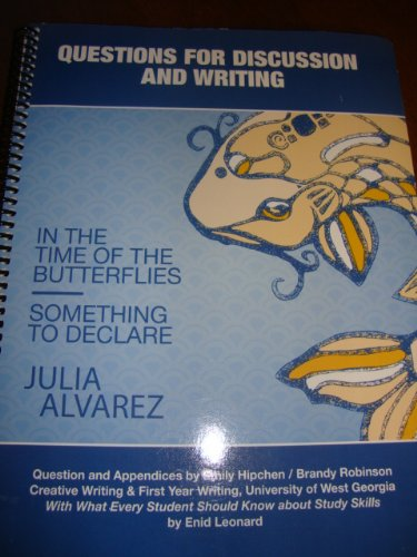 in the time of the butterflies by julia alvaraz essay Essays and criticism on julia alvarez's in the time of the butterflies - in the time of the butterflies.