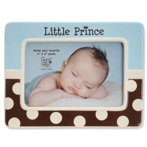 LITTLE PRINCE blue/chocolate frame by Enesco - 4x6