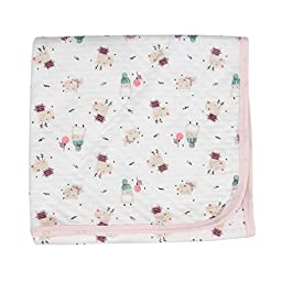 Red Ball Lagging nursery-receiving-blankets Baby Swaddle Pink