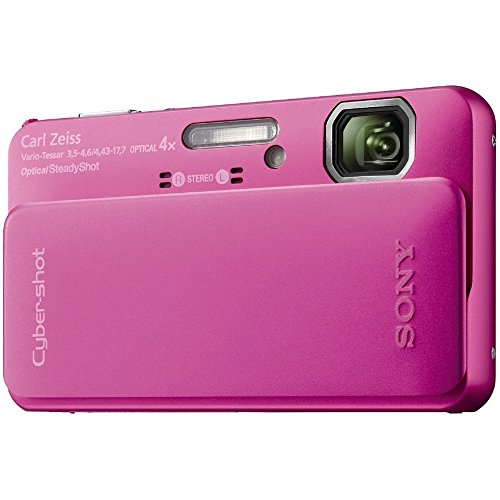 Sony Cyber-Shot DSC-TX10 16.2 MP Waterproof Digital Still Camera with Exmor R CMOS Sensor, 3D Sweep Panorama, and Full HD 1080/60i Video (Pink) (Sony Waterproof Digital Camera compare prices)