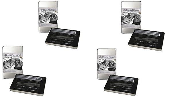 Royal & Langnickel RSET-ART2503 Small Tin Charcoal Drawing Art Set (4 Pack) (Tamaño: 4 Pack)