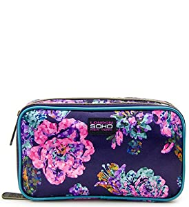 SOHO Glowing Wild Double Zip Organizer Cosmetic Bag